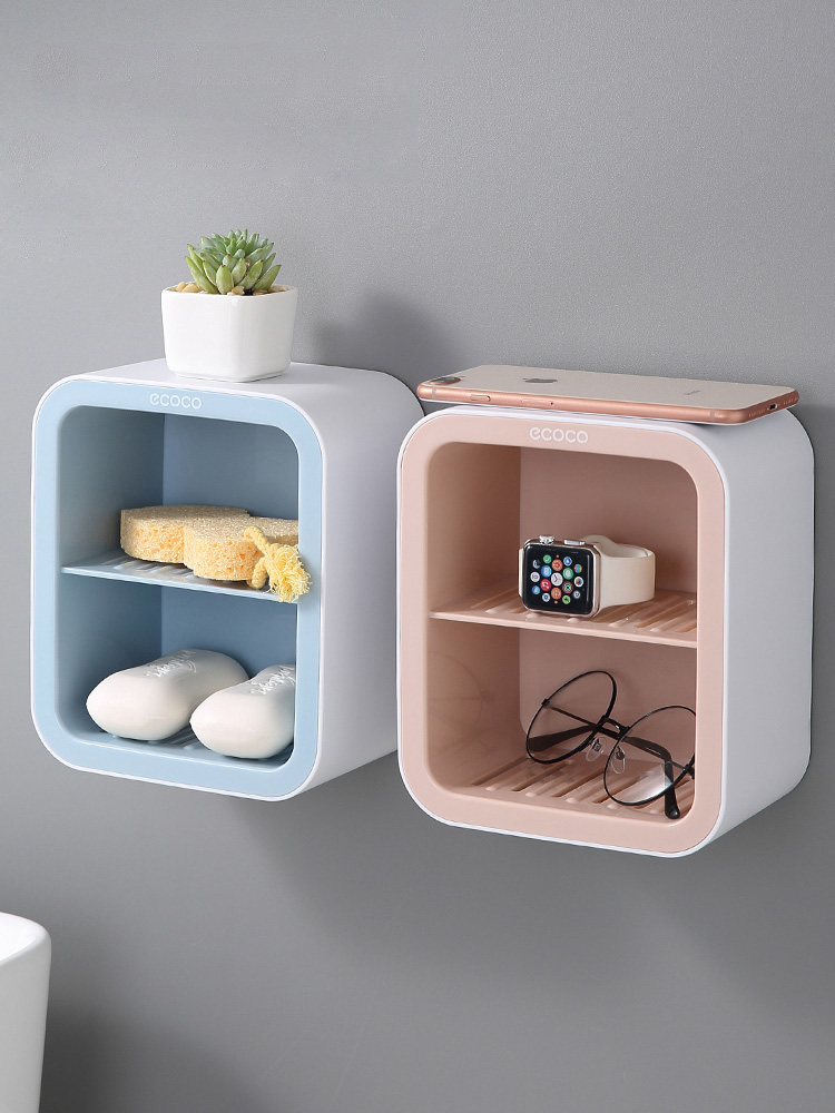 Bathroom washstand, toilet articles, household collection, bathroom shelf, wall hanging, creative storage artifact