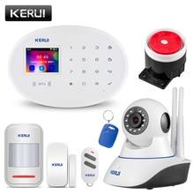 KERUI W20 가정 안전 WIFI GSM 경보망 가정 무선 APP 원격 제어 2.4 인치 스크린 전환 가능한 언어 도난 경보기