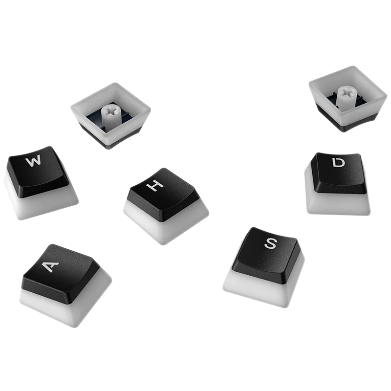 Double Lens Backlit PBT Pudding Keycap Set Suitable for Conventional 104 Keyboard