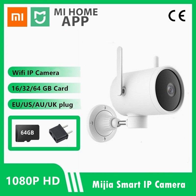 Original xiaomi mi casa wi fi ip câmera à prova dwaterproof água ip66 ao ar livre webcam alarme ai detecção humanóide 1080p ip câmera de visão noturna