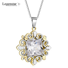 Legenstar Fashion Chain Necklace Women Pendants Charm Stainless Steel 3D Three Layers Jewelry Zircon Choker Collier Femme 2019