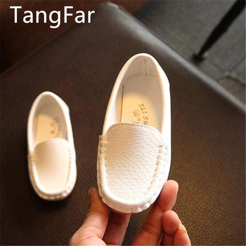Toddlers Shoes Fashion Soft Kids Loafers Children Flats Casual Boat Shoes Boys Girls Wedding Moccasins Leather Shoes