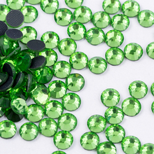 Rhinestones Wedding-Decoration Crystal Glass Iron-On Green Hot-Fix for SS4-SS30 Quality-Light