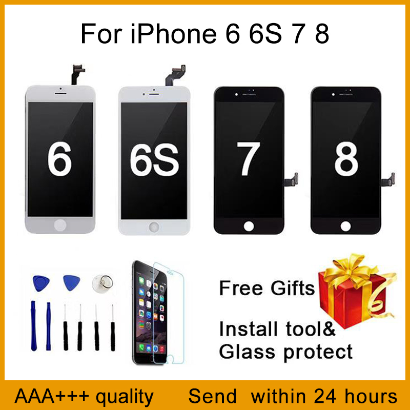 Perfect Quality  AAA+++ For iPhone 7 LCD 4.7 inch Screen Diaplay 100% No Dead Pixel  Pantalla For iPhone 6 6S 7 8 LCD with Gifts