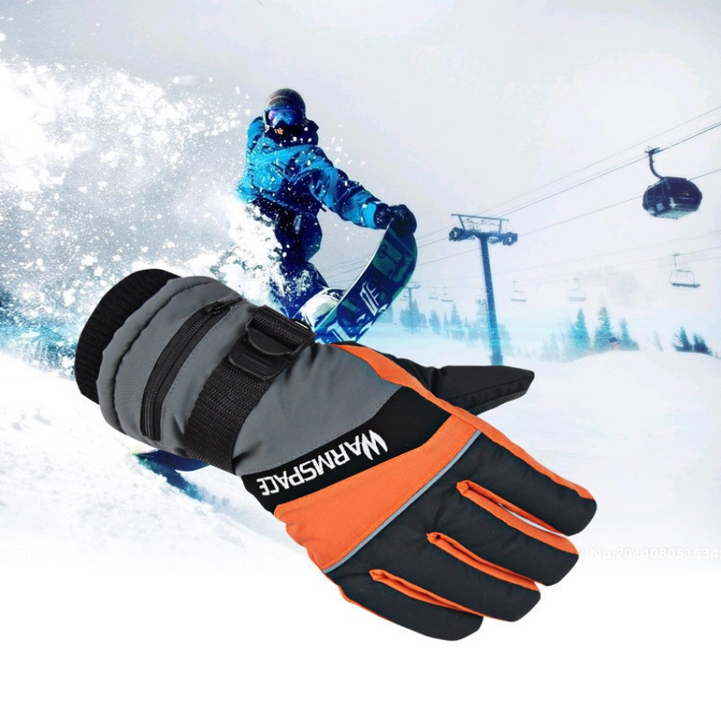 1 Pair Winter USB Hand Warmer Electric Thermal Gloves Waterproof Heated Gloves Battery Powered For Cycling Motorcycle Ski Gloves