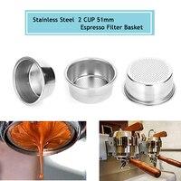 Copo de filtro de café 51mm filtro não pressurizado cesta de café produtos acessórios de cozinha Filtros de café     -
