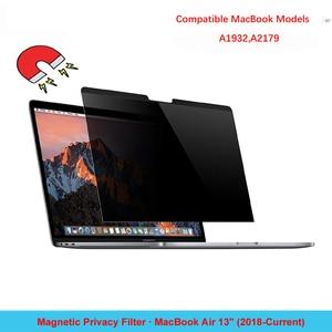 Антибликовая Защитная пленка для ноутбука, магнитный фильтр для конфиденциальности для нового MacBook Air 13