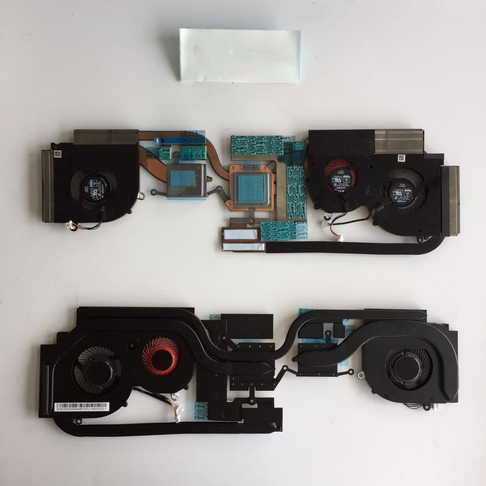 New CPU GPU Cooler Fan For MSI GS65 P65 Stealth GS65VR 8RF 8RE MS-16Q2 MS-16Q1 5V 0.5A Radiator