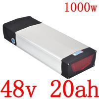 Bateria de lítio elétrica da bicicleta 48 v 15ah 18ah 20ah da bateria 48 v 20ah para bafang 1000 w bbshd bbs02 500 w com cremalheira traseira da dupla camada