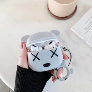 Bearbrick case for Apple AirPods pro 3 Airpots Bluetooth wireless earphones protective cover men silicone anti-fall soft shell(China)