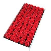 50pcs/box Cheap Soap Rose Head Romantic Wedding Valentine\'s Day Gift Wedding Banquet Flowers Home Decoration Accessories Modern