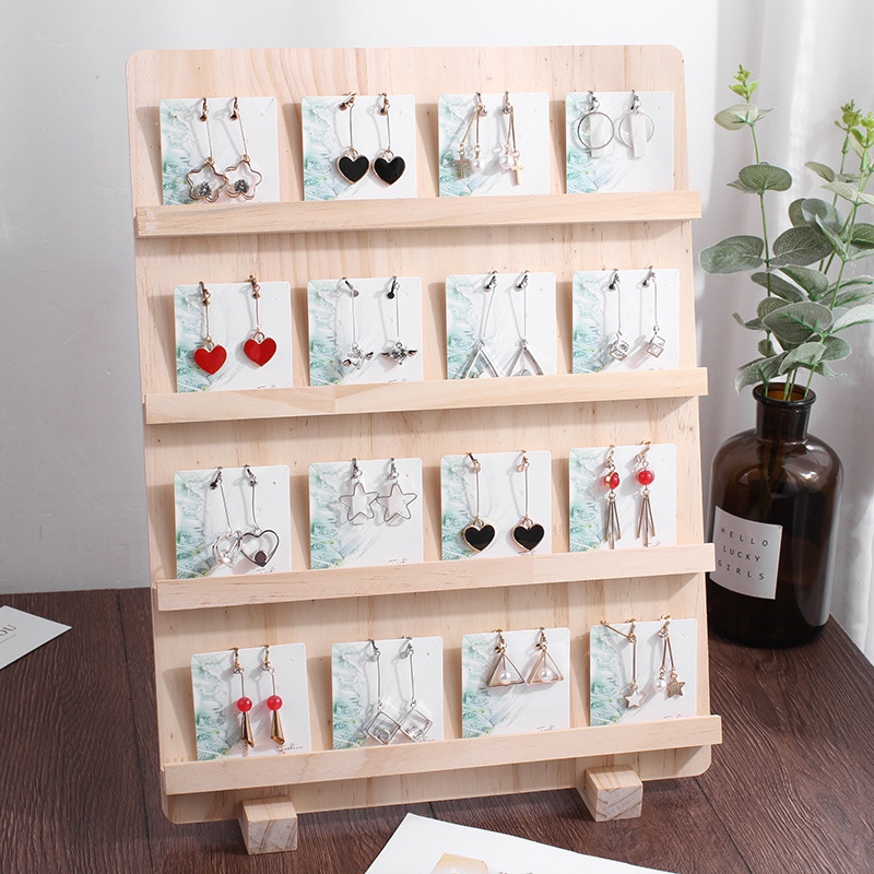 Fashion Wood Jewelry Display Necklace Charms Jewelry Display Tray Pendant Earrings Card Style Pendant Display Tag Card