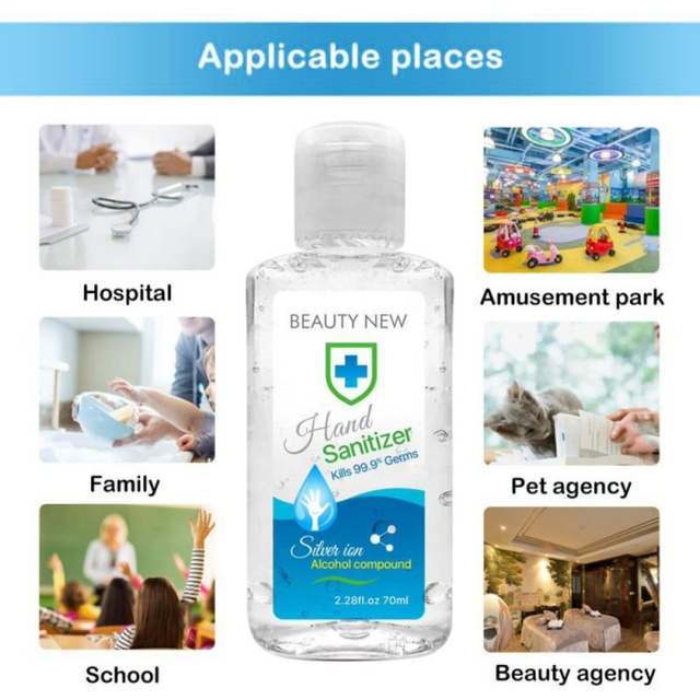70ml/50ml Prevent Bacteria Disposable Hand Sanitizer Disinfection Gel In Stock 5