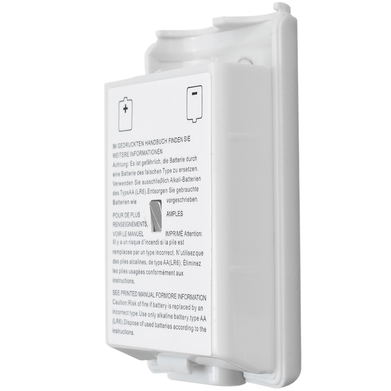 1pc White AA Battery Back Cover Holder Shell Case Suitable For XBOX 360 Wireless Controller