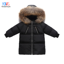 цена 2019 Winter Children Jackets For Boys Winter Down Jacket Girls/Boys Duck Down Coat Fur Collar Hooded Coat Outerwear DC188 онлайн в 2017 году