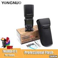 YN600EX-RT II TTL maestro Flash Speedlite para Canon 2,4G inalámbrico 1/8000s HSS GN60 Auto zoom Manual como 600EX-RT YN600EX II RT