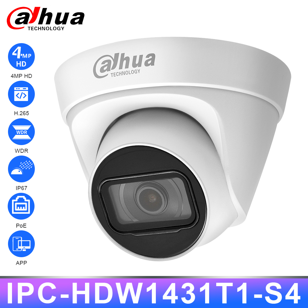 <font><b>Dahua</b></font> IPC-HDW1431T1-S4 Original HD <font><b>4MP</b></font> <font><b>IP</b></font> <font><b>Camera</b></font> Security PoE IR30m Night Vision H.265 IP67 WDR 3D DNR BLC Home Outdoor Webcam image