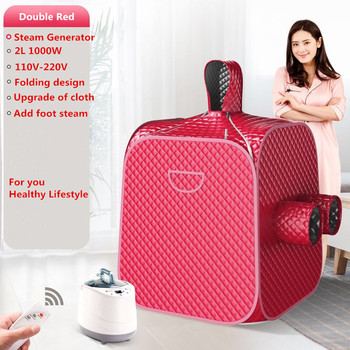 Portable Sauna Room Steam Sauna Bath Portable Sauna Lose Weight Detox Machine With Foot Hole Steam Generator Private Home SPA with a controller simple use detox foot spa bath