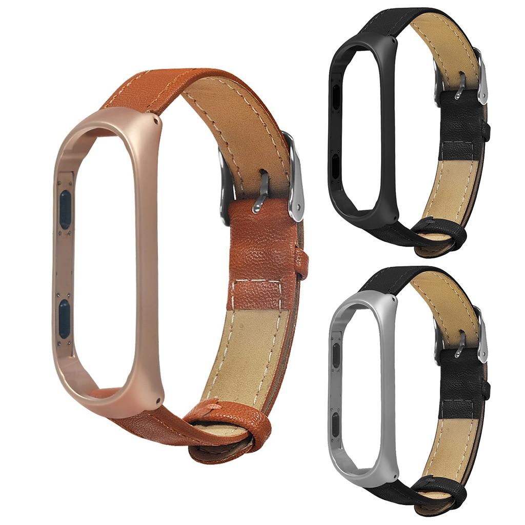 New!!!Business Lightweight Leather Smart Wrist Watch Band Strap For Xiaomi Mi Band 4 Smart Accessories Mi4 Band Wrist Band 4