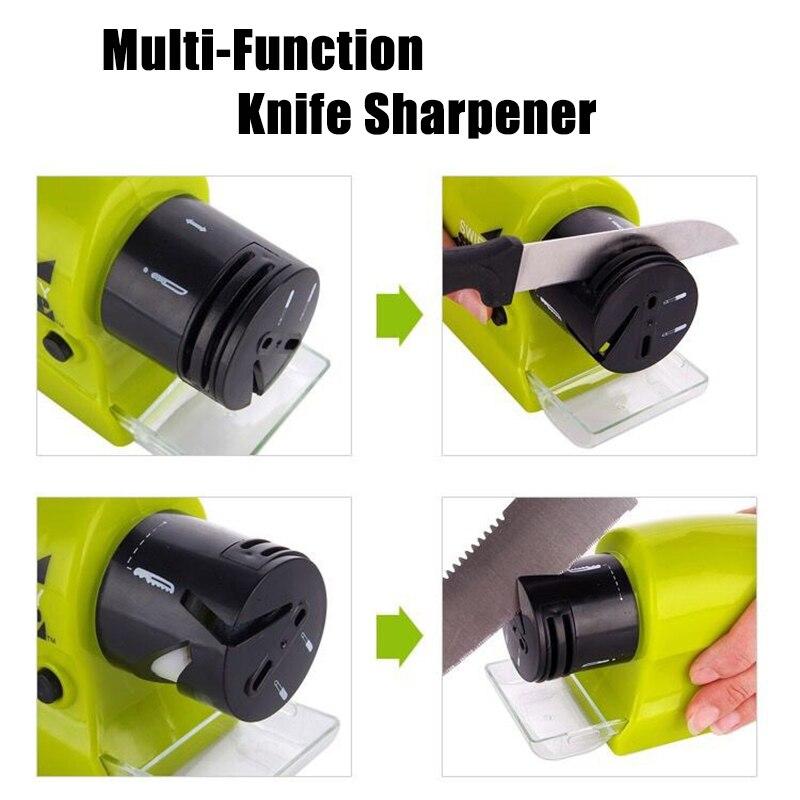 Kitchen Multifunctional Electric Knife Sharpener Swifty Sharp Motorized Knife Sharpener Rotary Whetstone Sharpening Stone Tools