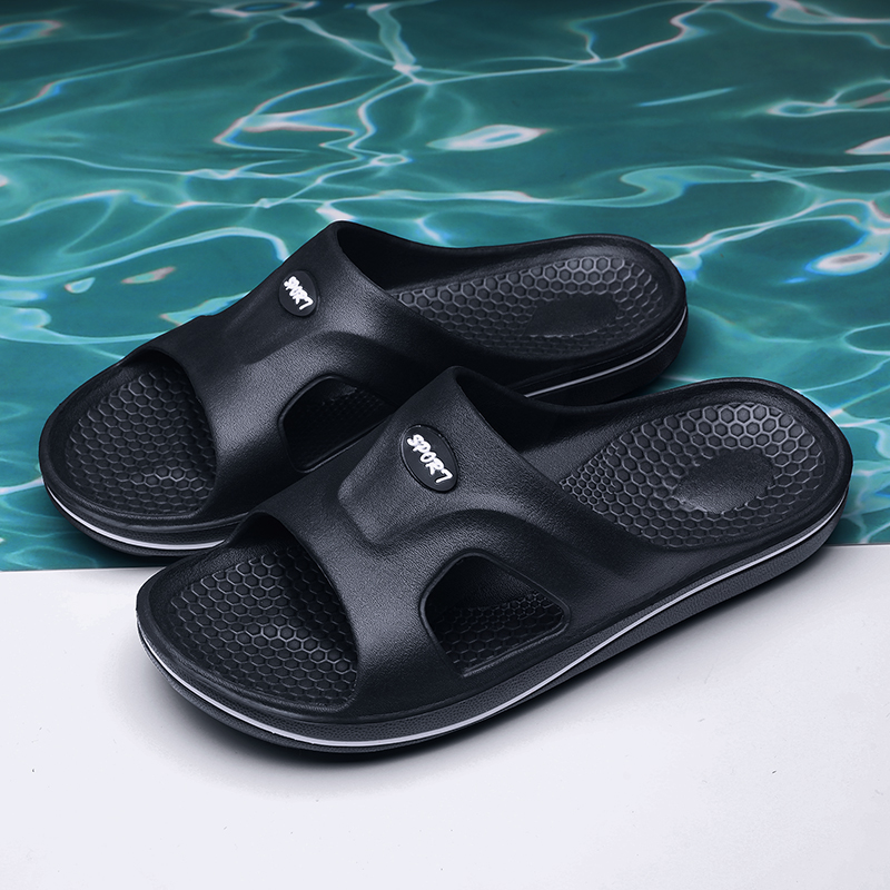 Luxury Brand Fashion Men Home Slippers Brown Leather Beach Sandals Mens Comfort Flip Flop Breathable Summer Shoes Big Size