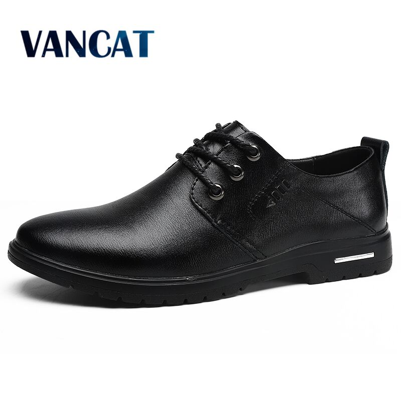 2020 New Spring Autumn Leather Men Shoes Fashion Casual Shoes Lace-Up Loafers Oxford Shoes Wedding Dress Shoes Big Size 38-47