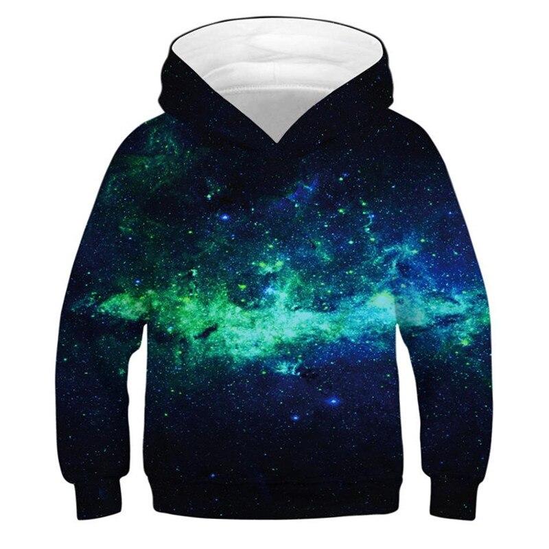 Space Galaxy Hoodies For Boys 3D Printed Children Sweatshirt Oversized Hoodies For Teen Girls Kids Casual Hoodie Outerwear