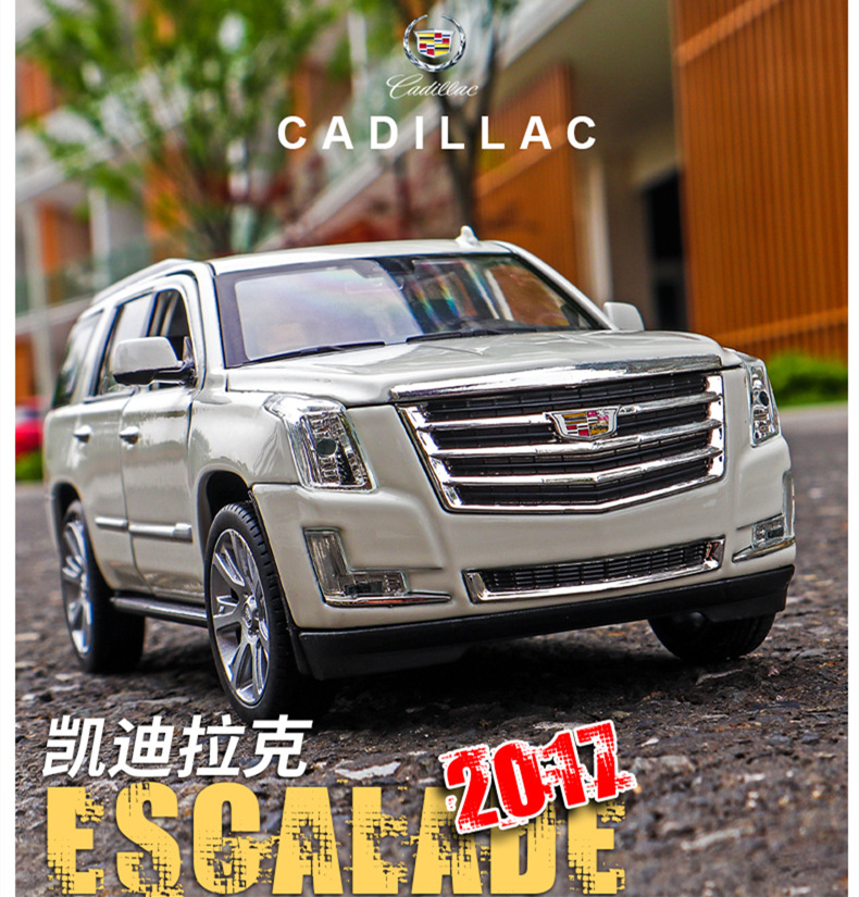 Welly 1:24 2017 Cadillac Escalade  Car Alloy Car Model Simulation Car Decoration Collection Gift Toy Die Casting Model Boy Toy