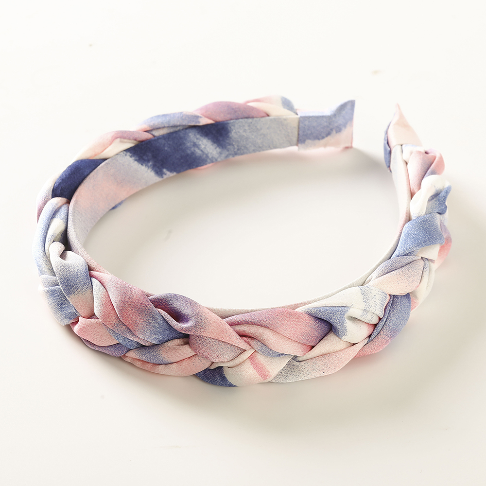 Haimeikang Women Braid Bezel Hair Bands Headwear Fashion Spring Summer Hair Hoop Headband New Style Fabric Hair Accessories