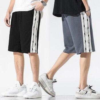 Streetwear Mens Shorts Summer 2020 Side Striped Hip Hop Shorts Cotton Joggers Shorts Fashions Black Shorts