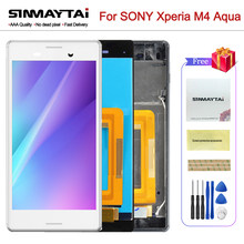 5.0 ''LCD d'origine pour SONY Xperia M4 Aqua LCD affichage E2303 E2306 E2353 E2312 E2333 E2363 écran tactile numériseur livraison gratuite