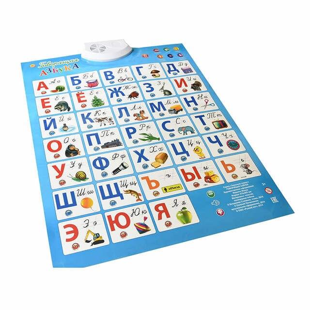 Us 1092 15 Offjęzyk Rosyjski Elektroniczne Dziecko Abc Alfabet Dźwięk Plakat Niemowlę Prezent Dla Dzieci Prezent Wczesna Nauka Edukacja Wykres