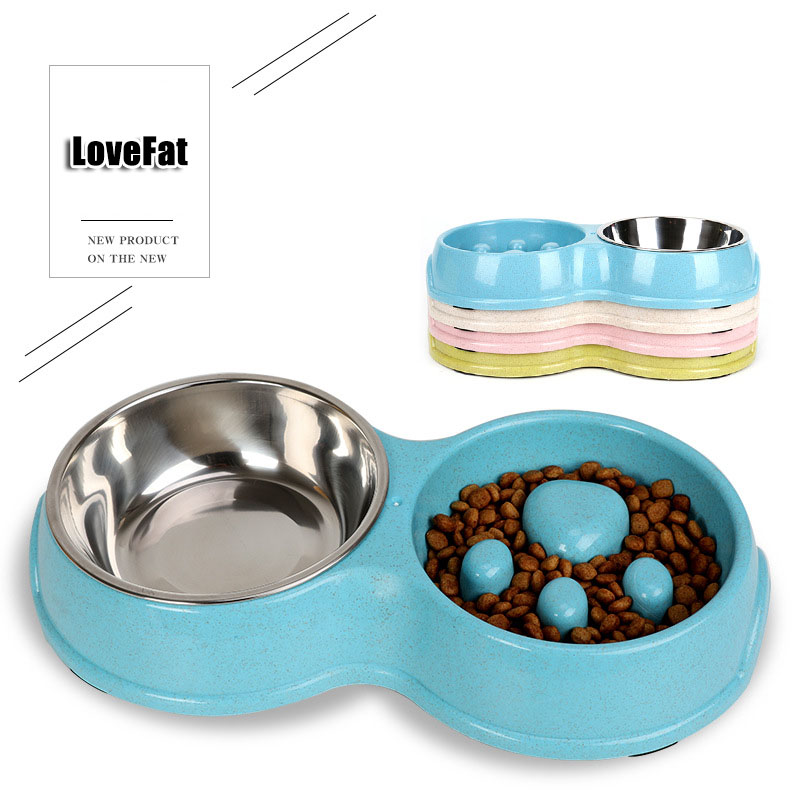 New Portable Pet Dog Feeding Food Bowls Puppy Slow Down Eating Feeder Dish Bowl Prevent Obesity Dogs Supplies Dropshipping  Bloa
