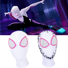 цена на Spider-Man: Into the Spider-Verse Gwen Stacy Mask Lenses 3D Cosplay Spiderman Superhero Props Masks