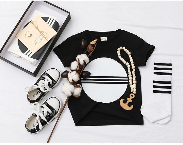 2020 di Nuovo Modo di Bambino Del Bambino Dei Bambini Dei Ragazzi di Estate T-Shirt Ragazze T Shirt A Manica Corta Per Bambini Carino Magliette e camicette Tee 1-8 anno 6