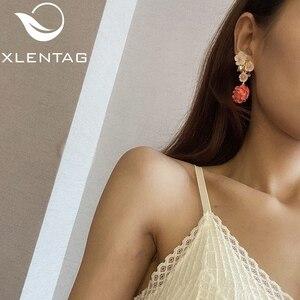 Image 5 - Xlentag天然真珠のイヤリングシルバー925sのイヤリング女性のアクセサリー結婚式の豪華なインディアンジュエリー韓国イヤリングGE0024