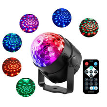 Colorful Sound Activated Rotating Disco Ball Stage Lights Laser Projector Night Light Christmas Party Wedding KTV led lamp Gifts