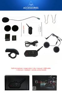 Image 5 - 1200M EJEAS E6 Plus للدراجات النارية الاتصال الداخلي خوذة بلوتوث سماعات الهاتف الداخلي VOX مع جهاز التحكم عن بعد لمدة 6 راكبين