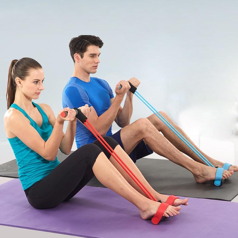 Pasipriešinimo tamprūs tempimo lynai treniruoklio irkluotojo pilvo - Fitnesas ir kultūrizmas - Nuotrauka 4