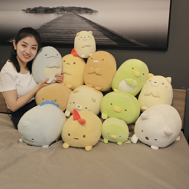 2020 1pc 19/30cm Japanese Animation Sumikko Gurashi Penguin Cat Plush Toys San-X Corner Bio Cartoon Doll For Kids Birthday Gifts