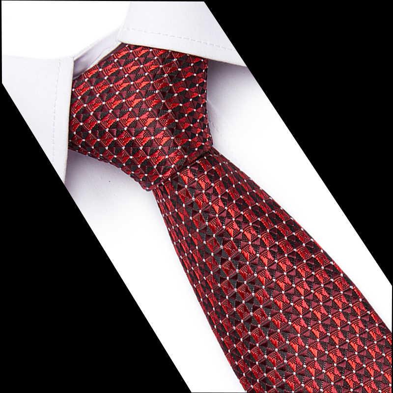 Mężczyzna mody akcesoria żakardowe tkane klasyczny krawat dla człowieka 7.5cm pasek sieciowy Wedding Party Business Foemal krawat 10061