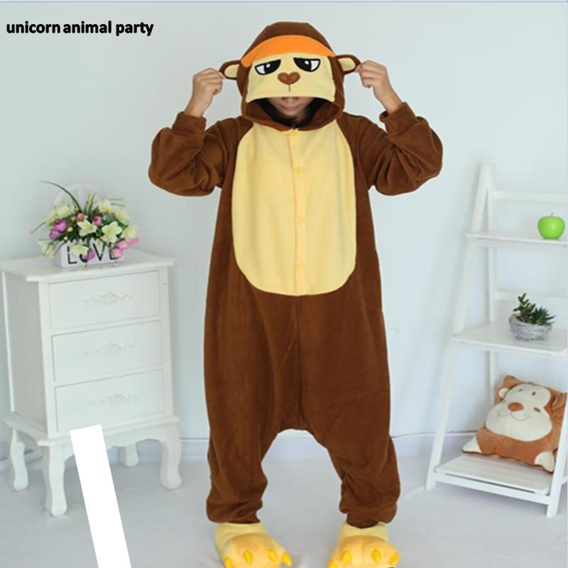 Kigurumi Adult Gorilla Onesies Pyjamas Anime Monkey Cosplay Costume Winter Sleepwear Pajamas Jumpsuit Female Male