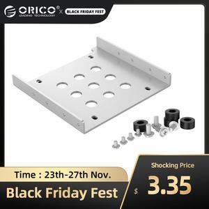 ORICO Aluminum 2.5'' to 3.5'' Hard Disk Drive Mounting Bracket Kit HDD SSD SATA Bay Converter (3.5 to 1x2.5 Black)