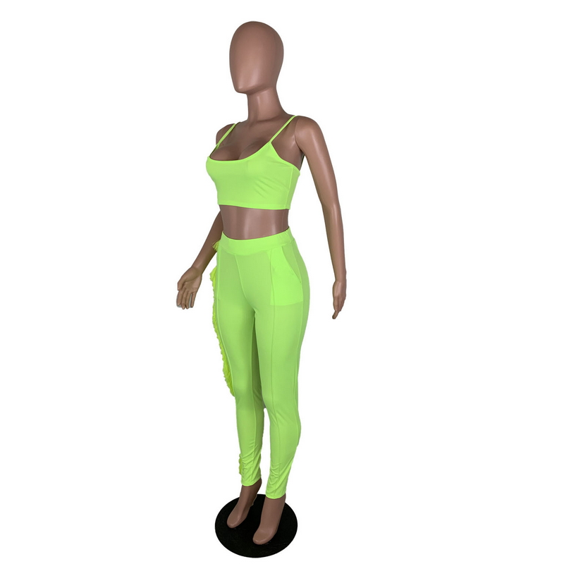 Crop Top And Pants Matching Sets Tassels Side Backless Two Piece Set Sexy Club Bodycon Bodysuit Solid Color Bandage Outfits in Women 39 s Sets from Women 39 s Clothing