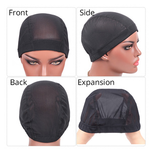 Image 5 - Plussign Stretchable Spandex Black Mesh Dome Style Wig Cap Wholesale 12 Pcs/Lot Snood Weaving Caps Hair Net For Wigs Making