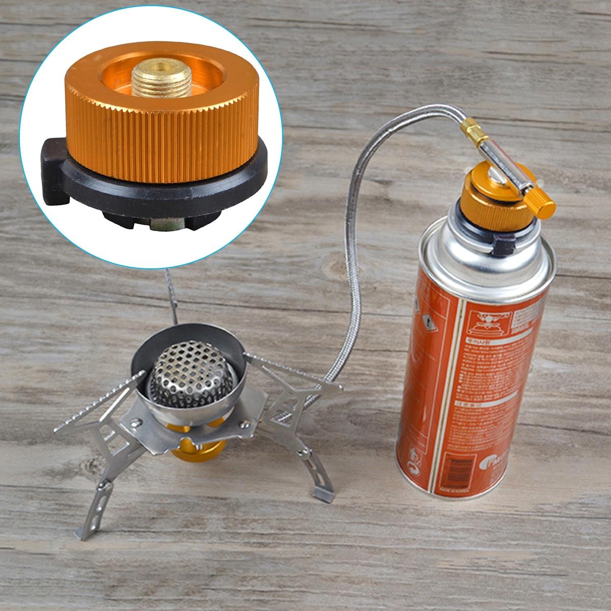Outdoor Camping Gas Stove Adapter Tank Propane Refill Coupler Adaptor Gas