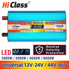 Inversor 12v 220v 12v/24v onda senoidal pura inversor de energia solar 2000w/3000w/4000w/6000w dc 12v para ac 220v inversor do carro display lcd