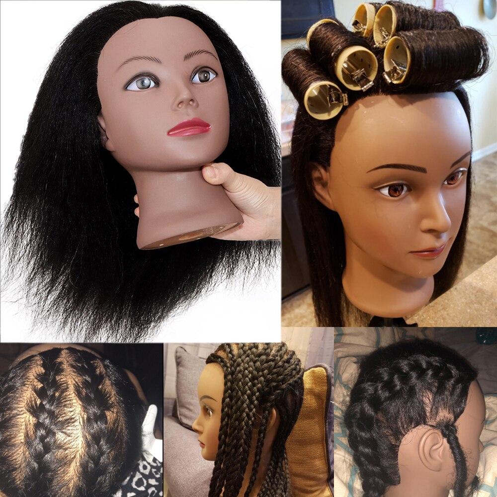 Голова-манекен с волосами для плетения косичек, 100%, куклы-манекены