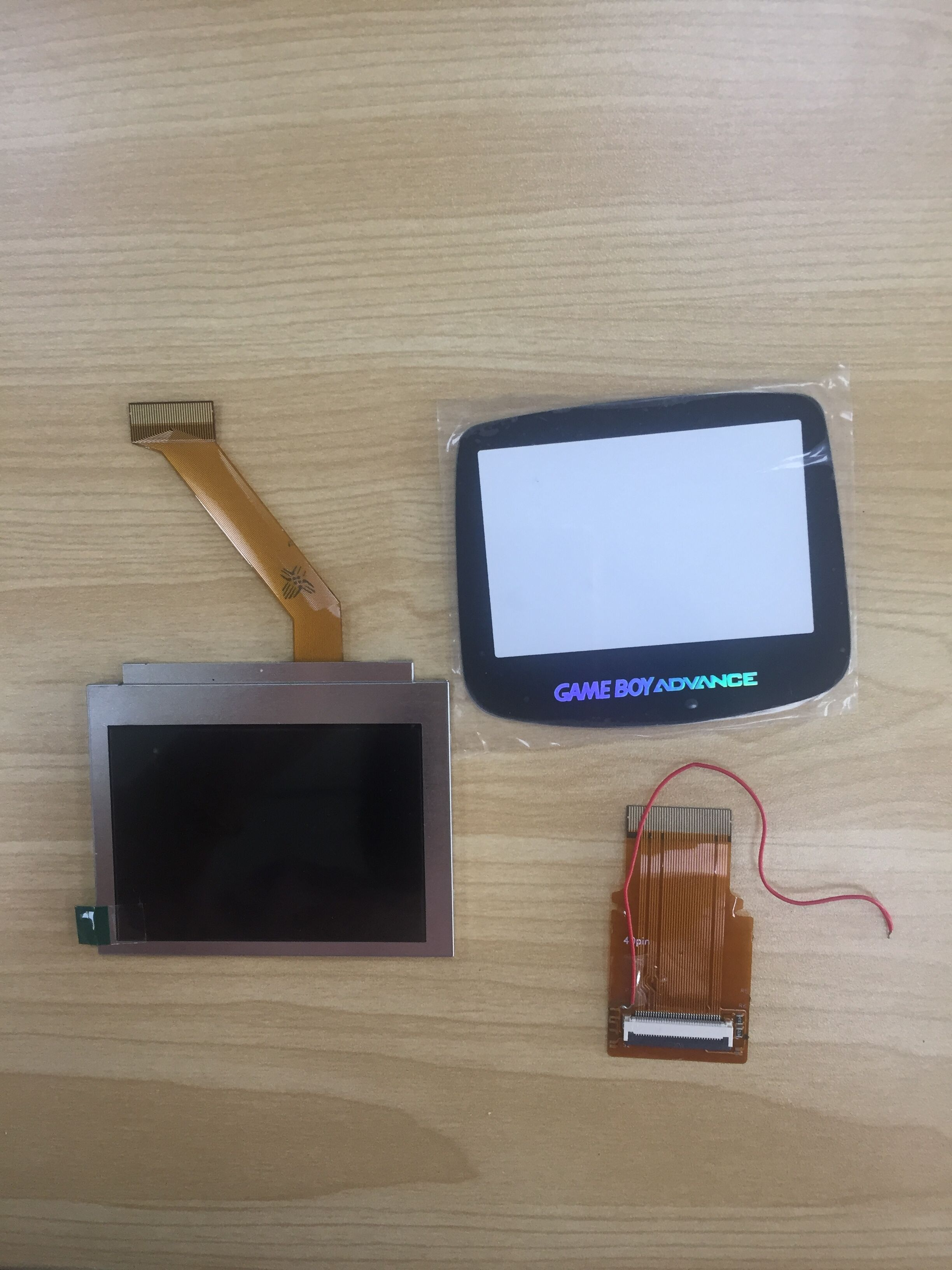 For GameBoy Advance <font><b>LCD</b></font> Screen For GBA SP <font><b>AGS</b></font> <font><b>101</b></font> Highlight Screen <font><b>LCD</b></font> Backlight klit Brighter Flex Ribbon Cable+Glass Cover image