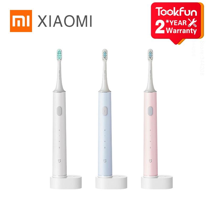 2020 XIAOMI MIJIA T500 brosse à dents électrique blanchiment des dents vibrateur sans fil Oral Smart Sonic brosse ultrasons hygiène nettoyeur
